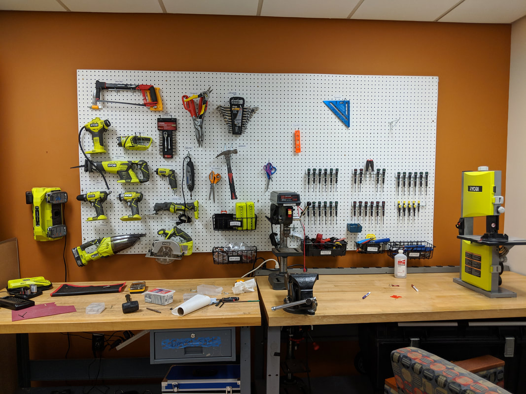 Picture of the lab's tool bench